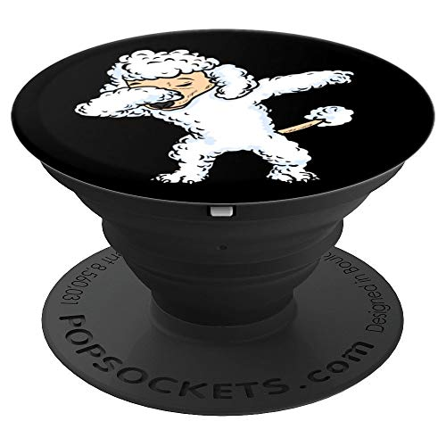 Dabbing White Poodle Dog Dab Women Girls Black & Design - PopSockets Grip and Stand for Phones and -