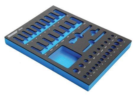 Westward 6ZGU8 Foam Insert, EVA, Black/Blue, For 1KEH6 (Westward Tool Box)