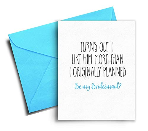 Funny Bridesmaid Proposal Card Funny Bridesmaid Card Will you be my Bridesmaid Card
