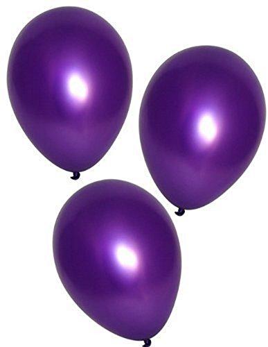 Fun Express Purple Metallic Balloons