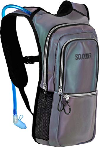 Sojourner Rave Hydration Pack Backpack - 2L Water Bladder Included for Festivals, Raves, Hiking, Biking, Climbing, Running and More