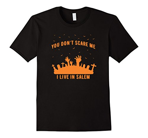 Mens You Don't Scare Me I Live In Salem Halloween T-Shirt 2017 2XL (Halloween In Salem 2017)