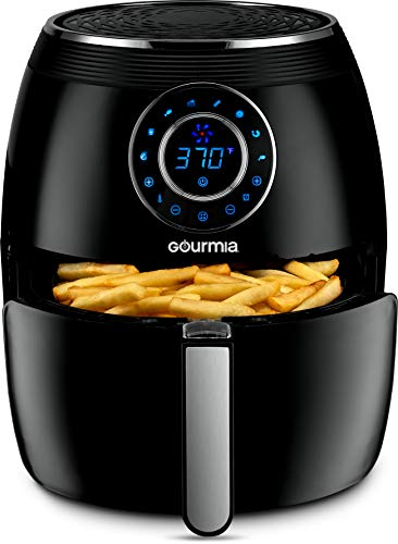 Gourmia GAF615 Digital Free Fry Air Fryer- No Oil Healthy Frying – LCD Display – 8 Presets – 1700 Watt – 6 Qt Basket Pan – Recipe Book Included