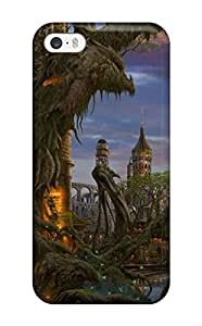 DeniseMA Snap On Hard Case Cover Building Fantasy City Castle Abstract Fantasy Protector For Iphone 5/5s
