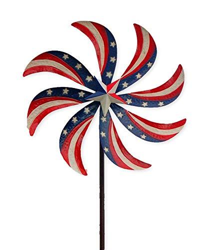 BestNest Panacea Patriotic Kinetic Art Windmill, Multicolored, 72