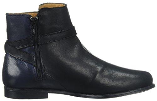 Sebago Women's Bootie Navy Black Boot Leather Ankle Plaza qPOxrq8H