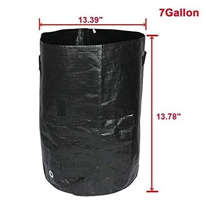 Amazon.com: Maceteros de tela, 7 bolsillos, fieltro negro ...
