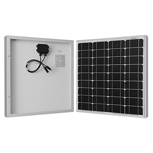 Renogy 50W 12V Monocrystalline Solar Panel High Efficiency Module PV Power for Battery Charging Boat, Caravan, RV and Any Other Off Grid Applications, 50 Watts, Black