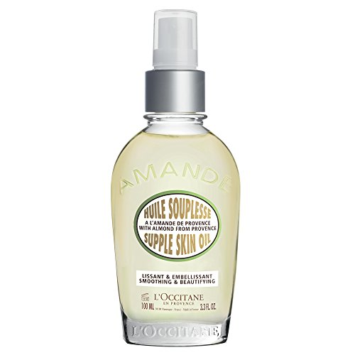 L'Occitane Smoothing & Beautiful Almond - Aceite corporal para piel, 3,3 l oz.