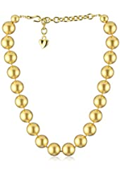 "Carolee ""Gold Pearl Basics"" Simulated Pearl 16mm Gold Pearl Chocker"