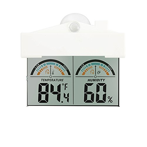 Digital Indoor Window Thermometer Hygrometer Baby Room Temperature and Humidity Monitor Temperature Gauge Living Room Humidity Meter with Clear Display Screen, 2 Decor Butterfly