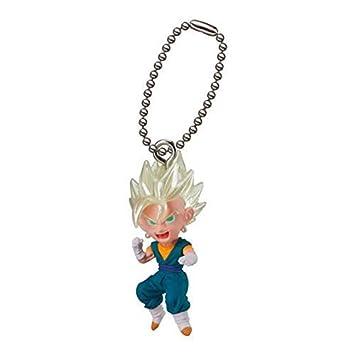 Dragon Ball Super Gashapon UDM The Best 16 Super Saiyan Vegetto with Keychain Capsule Toy