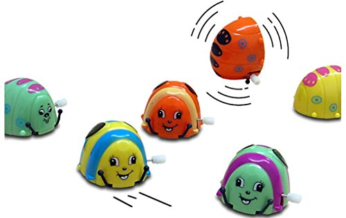 Dazzling Toys Flipping Wind-up Grubby Bugs - 12 Pack - Bulk. Great for parties and Favor bags by dazzling toys