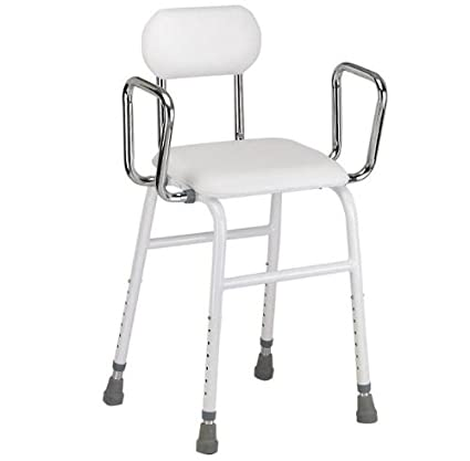 Pleasant Multi Use Perching Stool Adjustable Height With Removeable Armrests And Padded Seat And Back Short Links Chair Design For Home Short Linksinfo