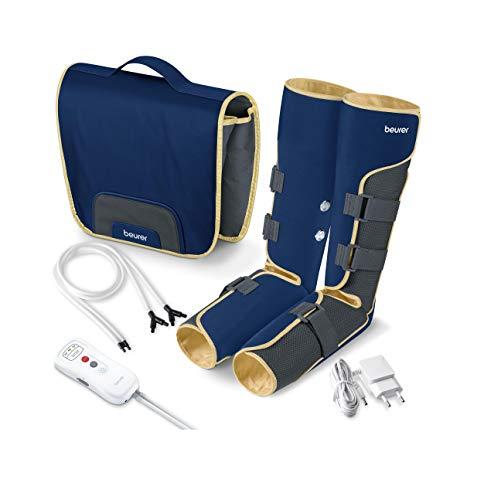 Beurer FM150 Botas Presoterapia por Masaje de uso doméstico, masaje de presión por aire, mejora la circulación sanguínea…