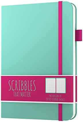 Inner Pocket No Bleed Hardcover Dotted Notebook Dotted Journal by Scribbles That Matter Create Your Own Unique Life Organizer Fountain Pens Friendly Paper A6-ish Teal