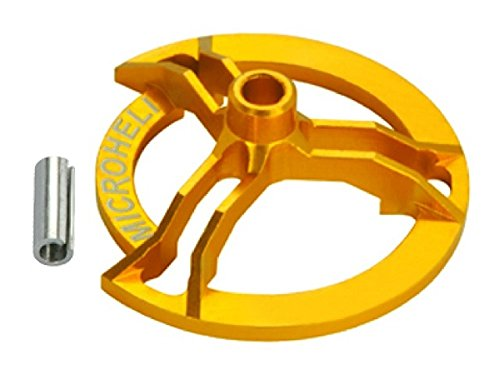 Microheli CNC Aluminum Swashplate Leveler (Gold) - Blade MCPX/S/BL/NCPX/S/S2