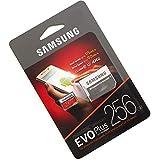 Cartão Micro Sdxc Samsung Evo Plus 256gb 100mb/s U3 Grava em 4K + Adaptador e Leitor de cartão