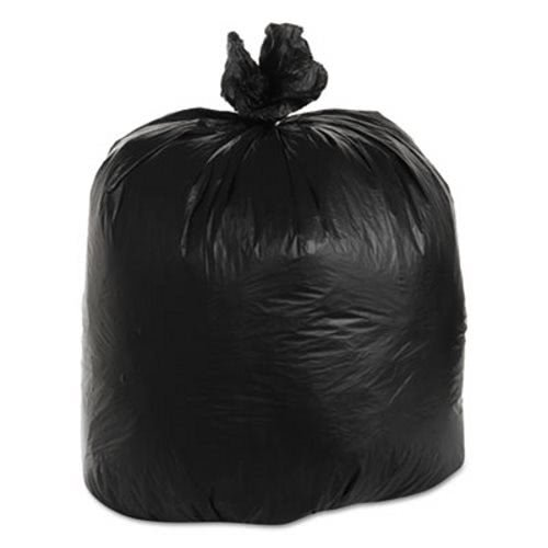 Flexsol High Density Black Flat-Bottom Trash Bags, 60 Gallon, 22 Micron, Case of 150 (ESSBRSX62B) Category: Commercial Can Liners