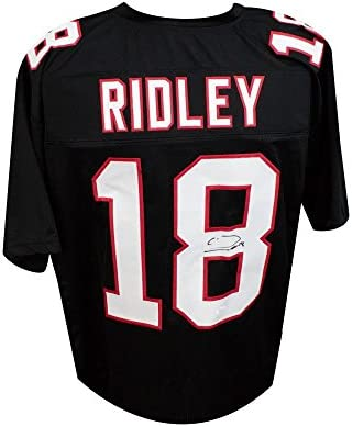 8904d9141 Calvin Ridley Autographed Atlanta Falcons Custom Black Football Jersey -  JSA COA