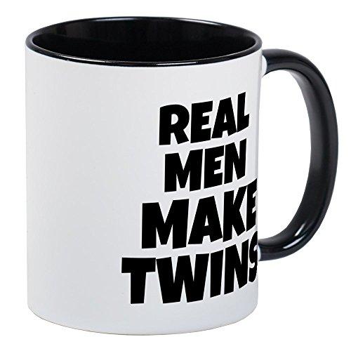 CafePress Real Men Make Twins Mug Unique Coffee Mug, Coffee Cup