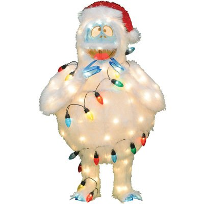 Bumble from Rudolph the Red Nose Reindeer 48-Inch 3D Pre-Lit Yard Sculpture