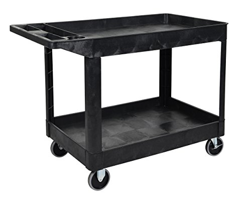 LUXOR XLC11-B Two Shelf Heavy-Duty Utility cart ()