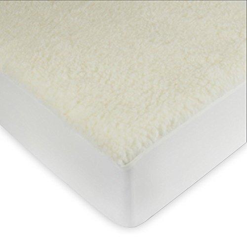 (Century Home Signature Collection Woolmark Certified Pure Wool Fleece Mattress Pad,)