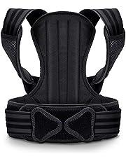VOKKA Houdingcorrectie voor mannen en vrouwen – ondersteuning voor wervelkolom en rug – verlicht nek-, rug- en schouderpijn – verstelbare, ademende rechthouder en rugbandage M/L/XL