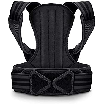 VOKKA Posture Corrector for Men and Women, Spine and Back Support, Providing Pain Relief for Neck, Back, Shoulders, Adjustable and Breathable Back Brace Improves Posture and Provides Back Support XL