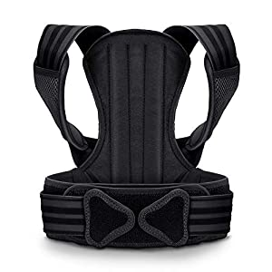 VOKKA Posture Corrector for Men and Women, Spine and Back Support, Providing Pain Relief for Neck, Back, Shoulders, Adjustable and Breathable Back Brace Improves Posture and Provides Back Support L
