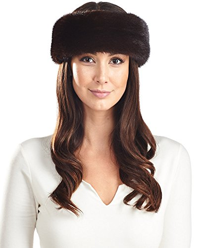 Fur Headband - Mahogany Mink Fur by Frr