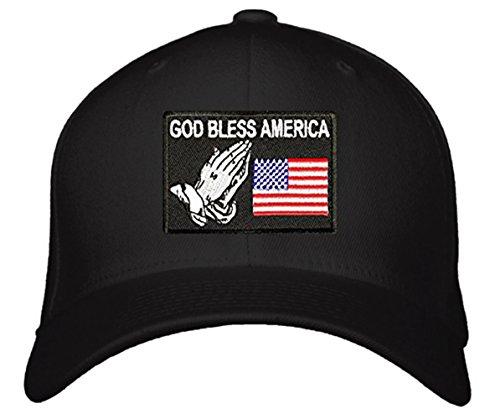God Bless America Hat - Adjustable Black Unisex