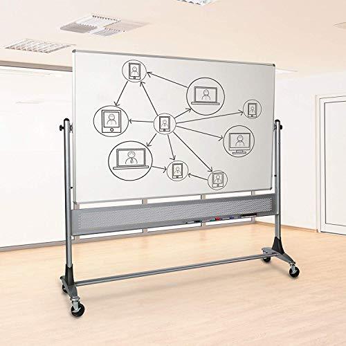 Best-Rite Platinum Reversible Dura-Rite Whiteboard and Natural Cork Board 4'H x 6'W