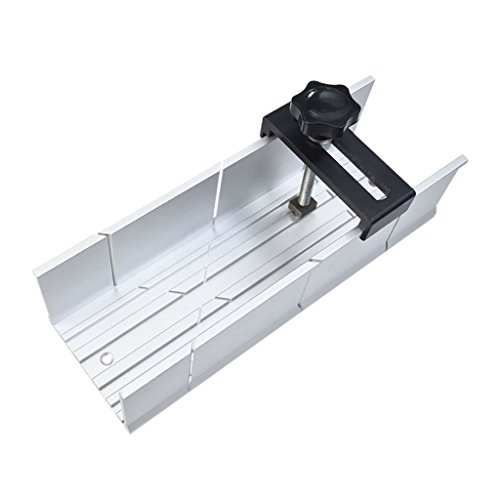 FIT TOOLS Aluminum Mitre Box 2 inch x 3 inch with Fix Screw for Hand Saw