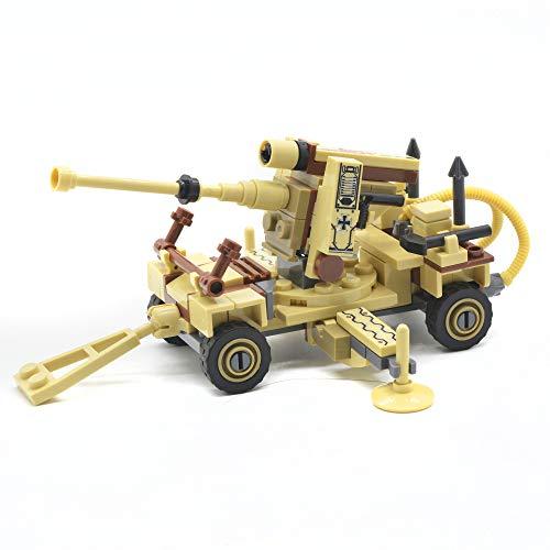 - koolfigure Custom Mini Set of WW2 German Army 88mm-36 Anti-Aircraft Artillery Building Bricks Toy 133PCS