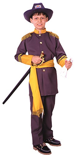 Boys Robert E Lee Kids Child Fancy Dress Party Halloween Costume, M (8-10) ()