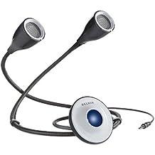 Belkin BoaBuds Gooseneck Flexible Portable Speakers with 3.5mm Audio Input for Smartphones, Tablets, MP3 Player, PC Laptop, Desktop, Macbook - Bulk Packaging