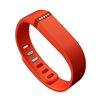 Best_Express Set 1pc Small S Replacement Band with Clasp for Fitbit FLEX Only /No tracker/ Wireless Activity Bracelet Sport Wristband Fit Bit Flex Bracelet Sport Arm Band Armband (Orange Tangerine)