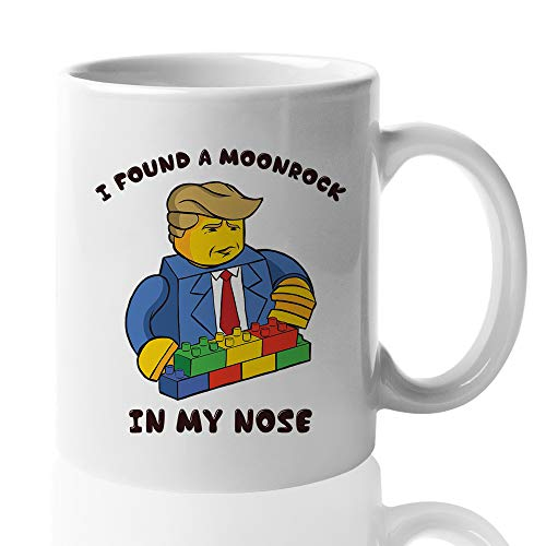 Trump Witty Mug - I Found A Moonrock In My Nose - Ralph Wiggum The Simpsons Quote Animated Series President Republican Dad Father's Day 15 Oz