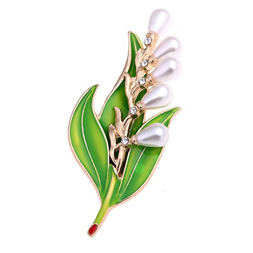 Xiongzhen Vintage Bridal Enamel Flower Leaf Brooches Pin For Scarf Buckle Clothes Accessories CC18096A