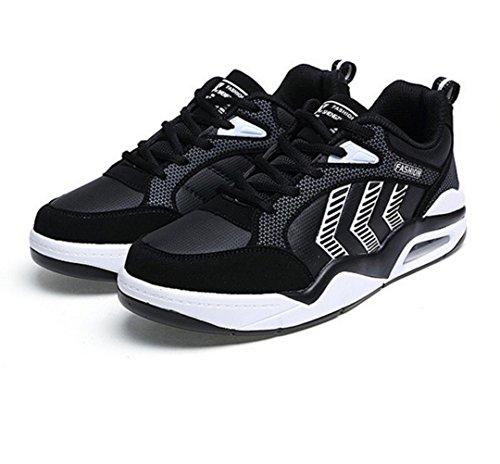 WZG Los deportes de otoño nuevos hombres de los zapatos del patín amortiguar los zapatos zapatillas de deporte de la manera ligera de los hombres ocasionales Black