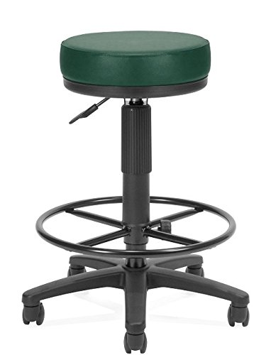(OFM Anti-Bacterial Utility Stool with Drafting Kit, Teal )