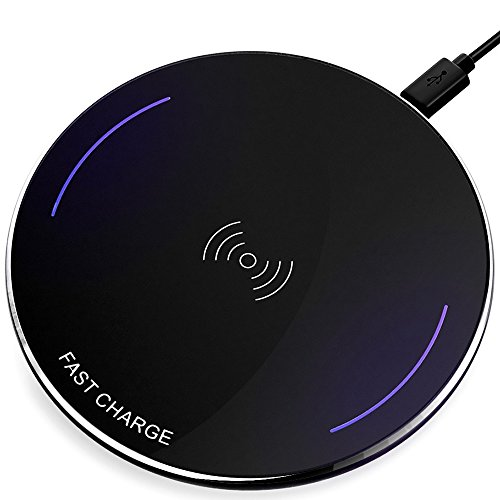 Price comparison product image Fast Wireless Charger By Ivolks Cordless Mobile Phone Charger Portable QI Charging For iPhoneX,iPhone 8,8Plus,Samsung Galaxy S8,Galaxy S8 Plus,S7,S7 Edge,Note 5,S6 Edge Plus etc