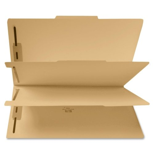 Wholesale CASE of 5 - Sparco 6-Part File Folders w/ Fasteners-Six Part Folder, Two 1'' Capacity Fstnr, Legal, 25/BX, MLA