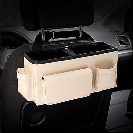 Sac de Rangement arrière pour siège de Voiture en Cuir arrière Sac de Rangement pour Voiture intérieure Boîte de Rangement de Grand Volume