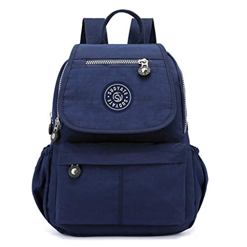 Women's Waterproof Large Capacity Laptop Bag Backpack School Student Shoulder Bag Travel Bag, JKRED Fashion Causal Zipper Outdoor Personality Party Solid Color Portable Wild Travel Multifunction (H)