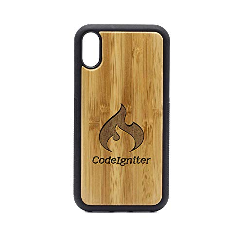 Logo Colonial Cup - iPhone XR Case - Bamboo Premium Slim & Lightweight Traveler Wooden Protective Phone Case - Unique, Stylish & Eco-Friendly - Designed for iPhone XR ()
