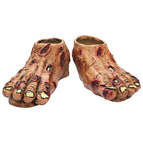 Zombie Flesh Feet Shoe Covers ()