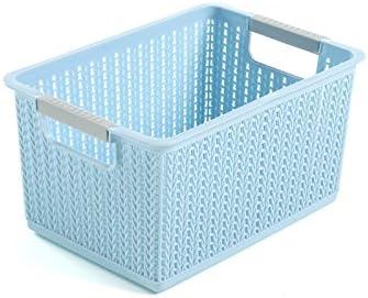 UMCCY Almacenaje de Ropa de plástico Cesta Cesta DE Acabado DE Escritorio Armario Caja de Almacenamiento de Juguete Cesta Mimbre pequeño, Azul Trompeta Sery: Amazon.es: Hogar